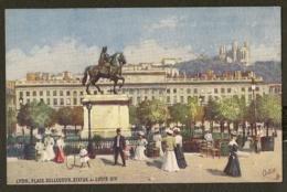CP-LYON - Place BELLECOUR - Statue De Louis XIV - Lyon