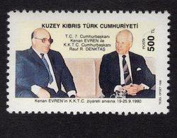 672668269 TURKISH CYPRUS 1990 POSTFRIS MINT NEVER HINGED POSTFRISCH EINWANDFREI SCOTT 283 VISIT TURKISH PRESIDENT - Chypre (Turquie)