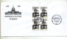 Lettre Fdc 1993 Paris Val De Grace - FDC
