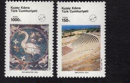 672668623 TURKISH CYPRUS 1990 POSTFRIS MINT NEVER HINGED POSTFRISCH EINWANDFREI SCOTT 281 282 EUROPEAN TOURISM YEAR - Chypre (Turquie)