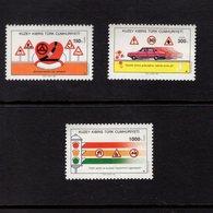 672668959 TURKISH CYPRUS 1990 POSTFRIS MINT NEVER HINGED POSTFRISCH EINWANDFREI SCOTT 284 286 TRAFFIC SAFETY - Chypre (Turquie)