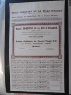 """ALGÉRIE : """"Régie Foncière De La Ville D Alger"""" Statuts De 1935 -Rare, 2000 Actions émises. (Exclusivité Sur Le Site) - Afrika"""