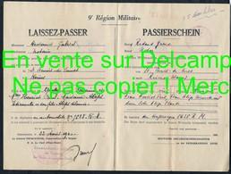 1940 WW2 Laissez Passer Passierschein ( Ausweis ) De Saint Benoit Du Sault Indre Pour Reims Marne Redaud Gabriel Notaire - Documents Historiques