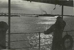 ( AFRIQUE) ( DJIBOUTI  )( COLONIE FRANCAISE )( MILITARIA )( LE PORT LA NUIT ) 1949 - Bateaux