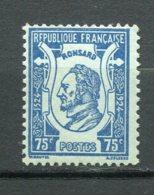 9761 FRANCE N° 209 ** 4é Centenaire De La Naissance Du Poète Pierre De Ronsard (1524-1585)    1924  TB - France