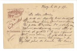 20894 -  Fabrique De Chocolat Suchard Neuchâtel  De Vevey 24.09.1897 Pour Villeneuve - Publicité