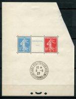 9769 FRANCE  BF 2a *mais Le Triptyque **  Exposition Philatélique De Stasbourg    1927  B/TB - Mint/Hinged