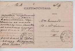 JS632/ CP Jullouville En SM Auditorat Militaire Belge Cherbourg V.Paris C.d'arrivée 1915 Guerre-Oorlog 14-18 - Army: Belgium