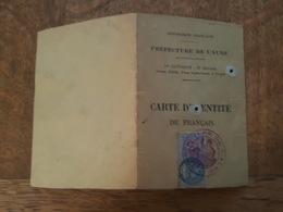 Timbre Fiscal 70 Francs - Sur Carte D'Identité - Gérard à Troyes - Marcofilia (sobres)
