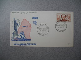 FDC 1959     N° 1212  Frédéric-Auguste Bartholdi     à Voir - FDC