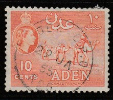 Aden 1953 -1959 New Daily Stamps 10 C Orange SW 50 O Used - Aden (1854-1963)