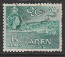 Aden 1953 -1959 New Daily Stamps 15 C Bluish Green SW 51 O Used - Aden (1854-1963)