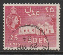 Aden 1953 -1959 New Daily Stamps 25 C Carmine SW 52 O Used - Aden (1854-1963)