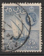 Aden 1953 -1959 New Daily Stamps 35 C Ultramarine SW 53 O Used - Aden (1854-1963)