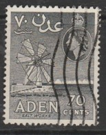 Aden 1953 -1959 New Daily Stamps 70 C Grey SW 55 O Used - Aden (1854-1963)