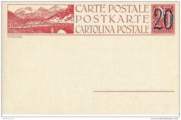 "103 - 28 - Entier Postal Neuf Avec Illustration ""Ofenpass"" - Entiers Postaux"