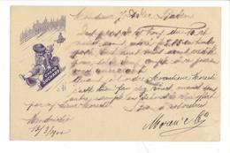 20895 -  Cacao Suchard Lugeurs Enfants De Mendrisio 13.03.1900 Pour Baden - Publicité
