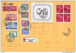Schweiz Suisse 1945: PAX Zu 262/270 Mi 447/455+Block 12Yv 405/413 Auf VOR-FDC Mit O WINTERTHUR 8.V..45 (Zu CHF 200.00) - FDC