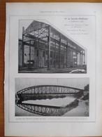1926 - Construction Ossature Et Pont Métalliques à Longwy Et Flize - Page Originale ARCHITECTURE INDUSTRIELLE - Architecture