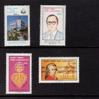 672675592 TURKISH CYPRUS 1992 POSTFRIS MINT NEVER HINGED POSTFRISCH EINWANDFREI SCOTT 309 310 311 312 - Chypre (Turquie)