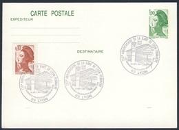 France Rep. Française 1987 Card / Karte / Carte - 130e Ann. Gare De Lyon-Perrache 1857-1987 / Railway Station / Bahnhof - Treinen