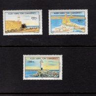 672676318 TURKISH CYPRUS 1991 POSTFRIS MINT NEVER HINGED POSTFRISCH EINWANDFREI SCOTT 314 315 316 LIGHTHOUSES - Chypre (Turquie)
