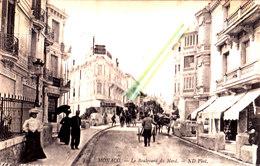 MONACO - Le Boulevard Du Nord - Carte Très Animée Ayant Circulé En 1914 Avec Plusieurs Commerces - Monte-Carlo