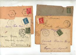 Lot 15 Lettre Cachet Sur Semeuse à Voir - Marcophilie (Lettres)