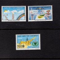 672678412 TURKISH CYPRUS 1992 POSTFRIS MINT NEVER HINGED POSTFRISCH EINWANDFREI SCOTT 336 337 338 - Chypre (Turquie)