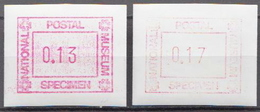 National Postal Museum 2 MNH Machine Stamps - Stamps