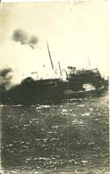 """Carte-photo - Paquebot,  Le  """" Georges Philippar """" En Feu Au Large D' Aden , Mai 1932 - Commerce"""