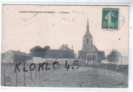 45 SAINT MARTIN D'ABBAT - Loret - L'Eglise - Vue Prise Des Vignes ... - CPA  CFM Généalogie - Autres Communes