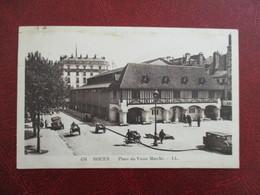 CPA 76 ROUEN PLACE DU VIEUX MARCHE VOITURES ANCIENNES - Rouen