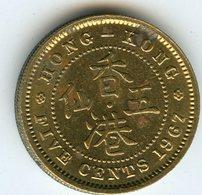 Hong Kong 5 Cents 1967 KM 29.1 - Hong Kong