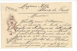 20900 -   Chocolat Suchard Grand Prix De Paris Arlequin De Saignelégier Pour La Chaux De Fonds 24.06.1912 - Publicité
