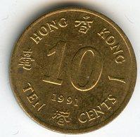 Hong Kong 10 Cents 1991 KM 55 - Hong Kong
