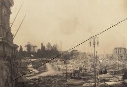 Photographie Exposition Universelle De Bruxelles 1910 Incendie Kermesse  Bogaarts Garnir - Lugares