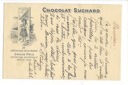 20901 -   Chocolat Suchard Grand Prix De Paris  Enfant De Neuchâttel 11.10.1911 Pour Bienne - Publicité