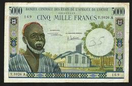 WEST AFRICAN STATES, IVORY COAST 5000 FRANCS ND (1961) PICK #104Ae - États D'Afrique De L'Ouest