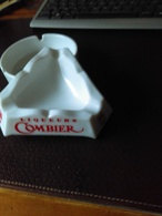 """Magnifique CENDRIER Blanc Marque """"Liqueur COMBIER"""" - Porcellana"""