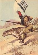 """0671 """"XVII° BATTAGLIONE INDIGENI IN ERITREA"""" ANIMATA, FIRMATA PISANI V. ILLUSTRATORE 1899/1974 . CART NON SPED - Regimenten"""