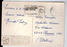 """U3897 Nice Timbre (flamme)""""CHESINGTON ZOO.SURREY"""" On Postcard LONDON, ST PAUL'S CATHEDRAL _ KARDORAMA - St. Paul's Cathedral"""