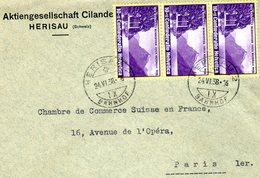Suisse > 1907-1939 > 3 X N°311 Pour PARIS 24/VI/1938 - Suisse