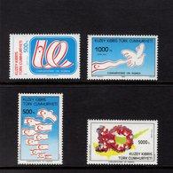 672696556 TURKISH CYPRUS 1993 POSTFRIS MINT NEVER HINGED POSTFRISCH EINWANDFREI SCOTT 352 353 354 355 TURKISH REPUBLIC - Chypre (Turquie)