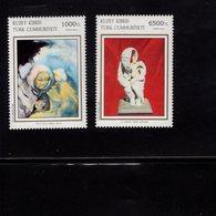 672697339 TURKISH CYPRUS 1994 POSTFRIS MINT NEVER HINGED POSTFRISCH EINWANDFREI SCOTT 361 362 PAINTINGS - Chypre (Turquie)