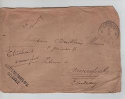 JS637/ Lettre En SM C.PMB-BLP 8 8:3:1915 + Griffe Postes Militaires N°8 Belgique V.prisonnier à Amersford - WW I