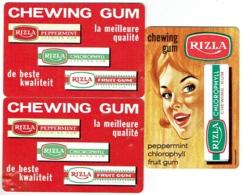 Calendrier. Lot De 3. Publicité Chewing Gum RIZLA. 1966/67. - Calendars
