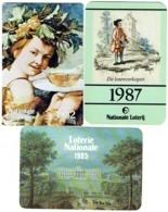 Calendrier. Lot De 3. Loterie Nationale/Nationale Loterij. 1982/85/87. - Calendriers