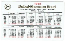 Calendrier. Dubai-Sheraton Hotel. 1982. - Calendriers