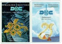 Calendrier. Lot De 2. Horlogerie-Bijouterie Delac. Bruxelles. Rue Du Lombard. 1997/2000 - Petit Format : 1991-00